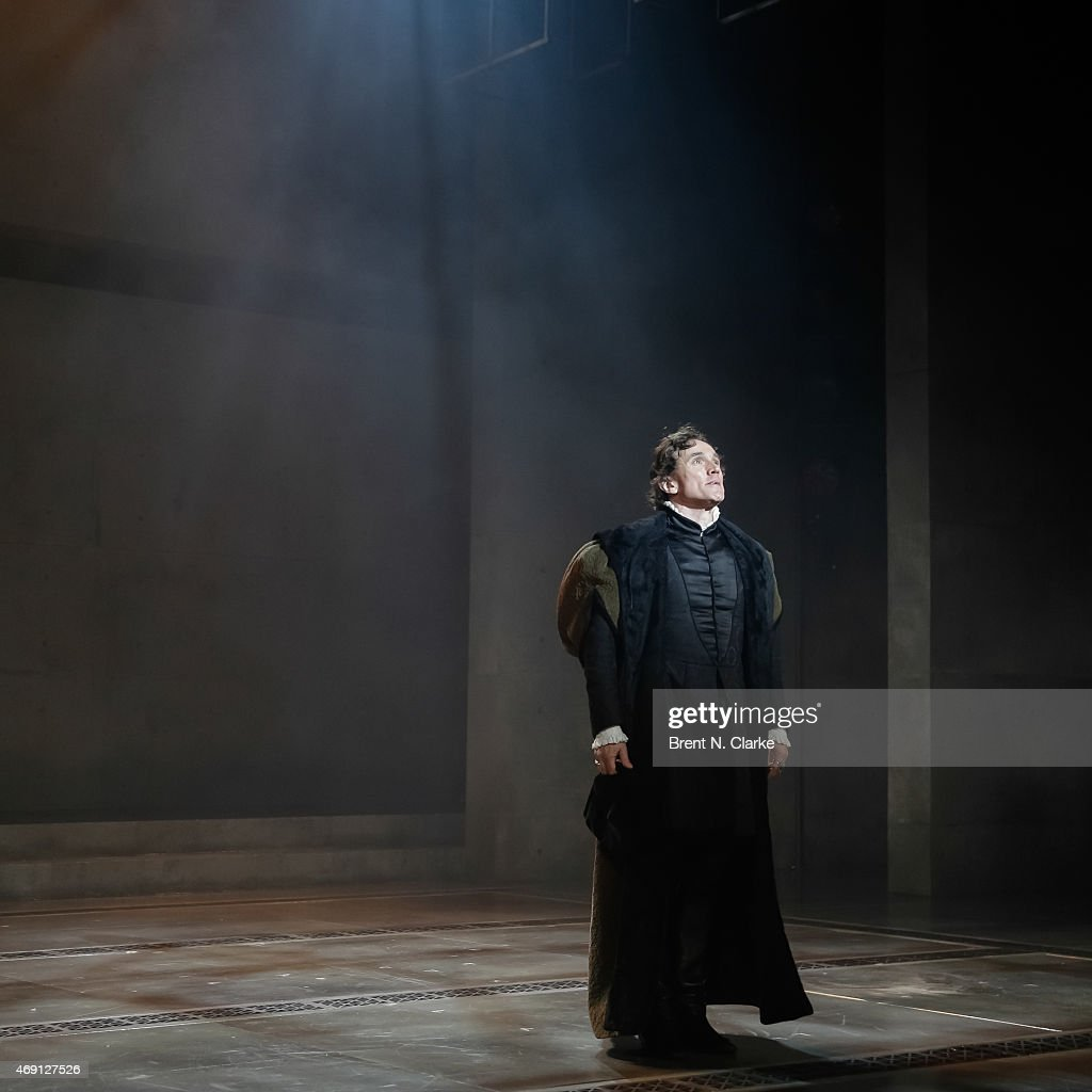 actor ben miles participates in the wolf hall opening night curtain picture id469127526