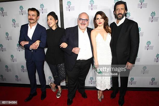 Actor Ben O'Toole Director Catalina Aguilar producer Francisco Gonzalez Compean actors Karla Souza and Jose Maria Yazpik attend the screening of...