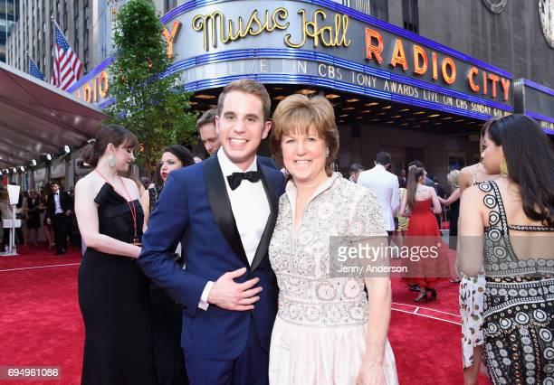 Actor Ben Platt and mother Julie Platt attend the 2017 Tony Awards at Radio City Music Hall on June 11 2017 in New York City