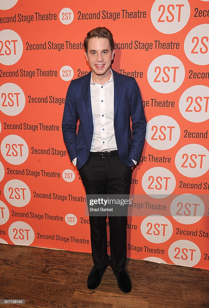 Actor <a gi-track='captionPersonalityLinkClicked' href=/galleries/search?phrase=Ben+Platt&family=editorial&specificpeople=822243 ng-click='$event.stopPropagation()'>Ben Platt</a> attends 'Dear Evan Hansen' Off-Broadway Opening Celebration - Party at John's Pizzeria on May 1, 2016 in New York City.