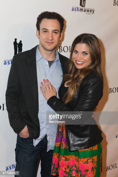 Actor Ben Savage and actress Danielle Fishel attends the private screening for 'Boiling Pot' on March 6 2014 in Los Angeles California