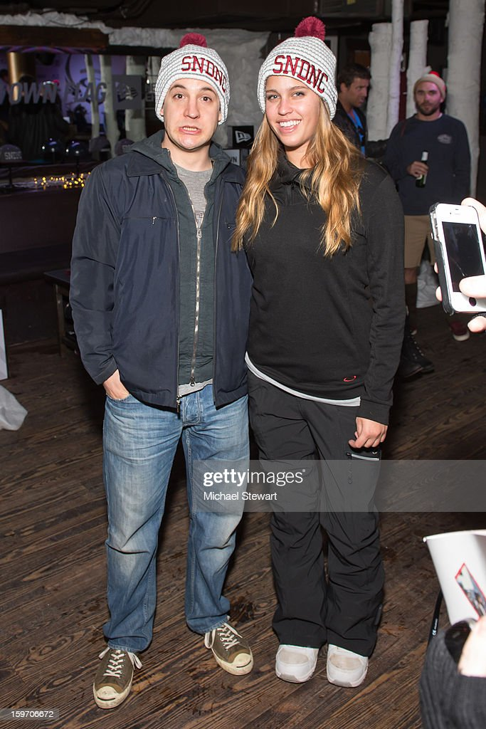 Actor <a gi-track='captionPersonalityLinkClicked' href=/galleries/search?phrase=Ben+Savage&family=editorial&specificpeople=1060126 ng-click='$event.stopPropagation()'>Ben Savage</a> (L) and guest attend Oakley Learn To Ride In Collaboration With New Era - Day 1 - 2013 Park City on January 18, 2013 in Park City, Utah.