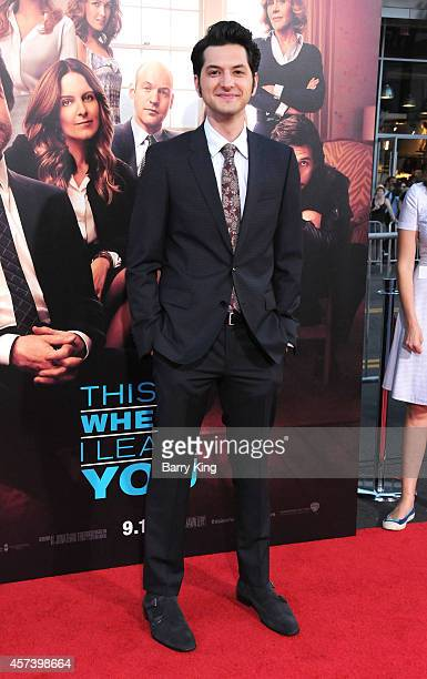 Actor Ben Schwartz arrives at the Los Angeles Premiere 'This Is Where I Leave You' at TCL Chinese Theatre on September 15 2014 in Hollywood California