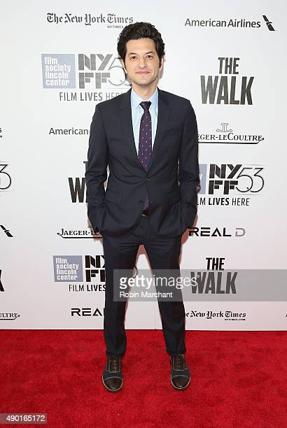 Actor Ben Schwartz attends the Opening Night Gala Presentation and 'The Walk' World Premiere during 53rd New York Film Festival at Alice Tully Hall...