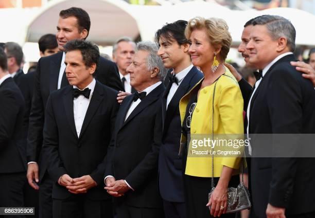 Actor Ben Stiller actor Dustin Hoffman director Noah Baumbach actress Emma Thompson and actor Adam Sandler of 'The Meyerowitz Stories' attend the...
