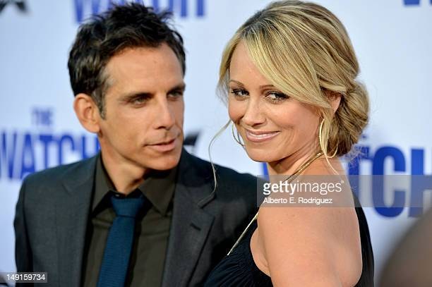 Actor Ben Stiller and actress Christine Taylor arrive at the premiere of Twentieth Century Fox's 'The Watch' at Grauman's Chinese Theatre on July 23...