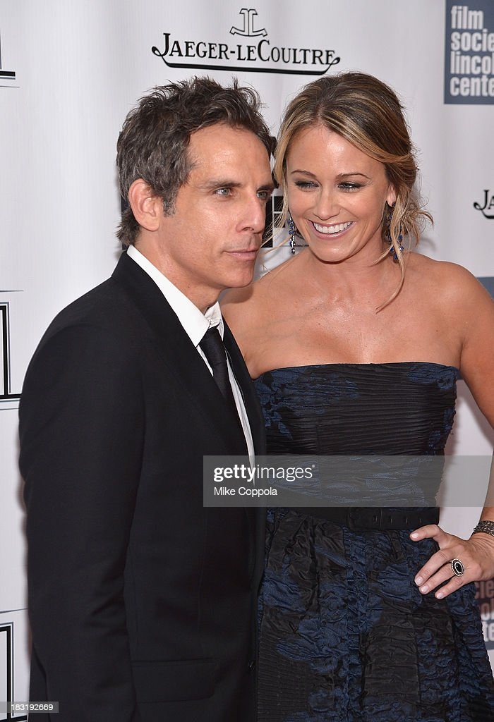 Actor <a gi-track='captionPersonalityLinkClicked' href=/galleries/search?phrase=Ben+Stiller&family=editorial&specificpeople=201806 ng-click='$event.stopPropagation()'>Ben Stiller</a> and actress <a gi-track='captionPersonalityLinkClicked' href=/galleries/search?phrase=Christine+Taylor&family=editorial&specificpeople=201985 ng-click='$event.stopPropagation()'>Christine Taylor</a> attend the Centerpiece Gala Presentation Of 'The Secret Life Of Walter Mitty' during the 51st New York Film Festival at Alice Tully Hall at Lincoln Center on October 5, 2013 in New York City.