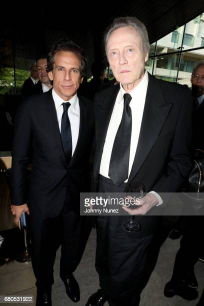Actor Ben Stiller and Christopher Walken during the 44th Chaplin Award Gala Dinner at David H Koch Theater at Lincoln Center on May 8 2017 in New...