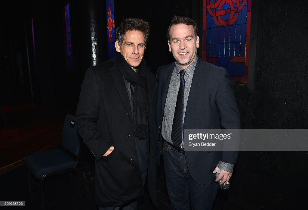 Actor <a gi-track='captionPersonalityLinkClicked' href=/galleries/search?phrase=Ben+Stiller&family=editorial&specificpeople=201806 ng-click='$event.stopPropagation()'>Ben Stiller</a> and comedian <a gi-track='captionPersonalityLinkClicked' href=/galleries/search?phrase=Mike+Birbiglia&family=editorial&specificpeople=4111852 ng-click='$event.stopPropagation()'>Mike Birbiglia</a> pose for a photo together during '<a gi-track='captionPersonalityLinkClicked' href=/galleries/search?phrase=Mike+Birbiglia&family=editorial&specificpeople=4111852 ng-click='$event.stopPropagation()'>Mike Birbiglia</a>: Thank God For Jokes' Opening Night at the Lynn Redgrave Theatre on February 11, 2016 in New York City.