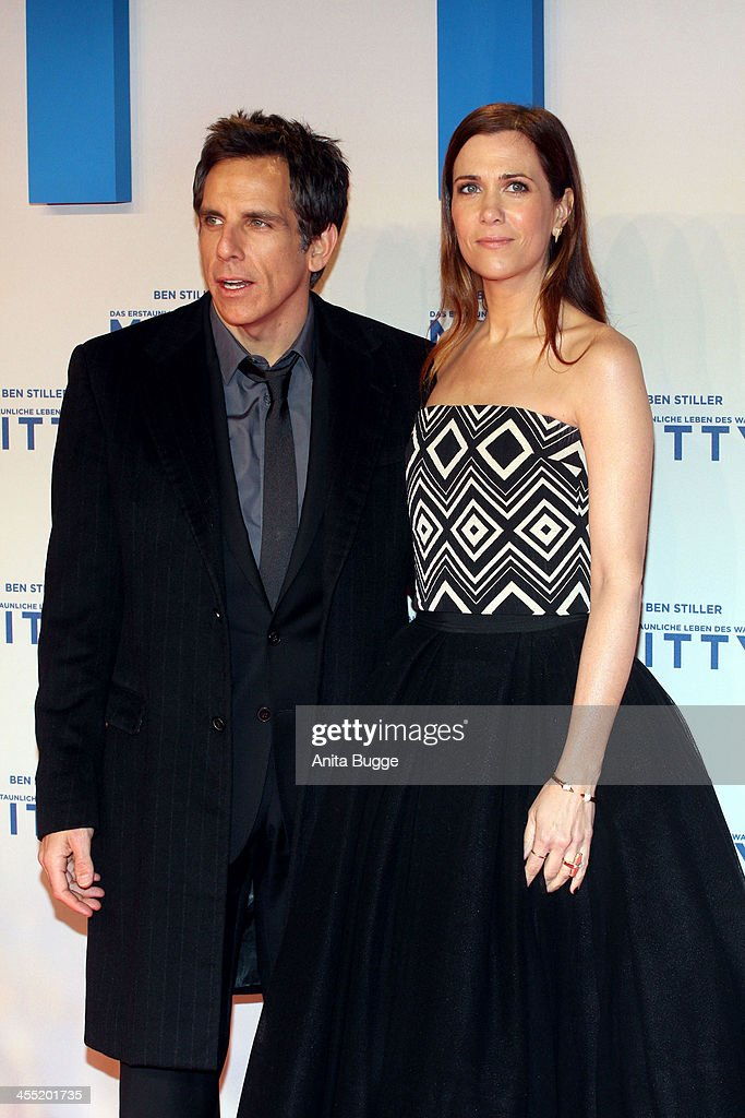 Actor <a gi-track='captionPersonalityLinkClicked' href=/galleries/search?phrase=Ben+Stiller&family=editorial&specificpeople=201806 ng-click='$event.stopPropagation()'>Ben Stiller</a> and Kirsten Wiig attend the German premiere of the film 'The Secret Life Of Walter Mitty' (Das erstaunliche Leben des Walter Mitty) at Zoo Palast on December 11, 2013 in Berlin, Germany.