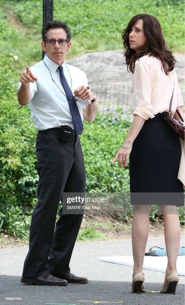 Actor Ben Stiller and Kristen Wiig as seen on the set of 'The Secret Life of Walter Mitty' on May 16, 2013 in New York City