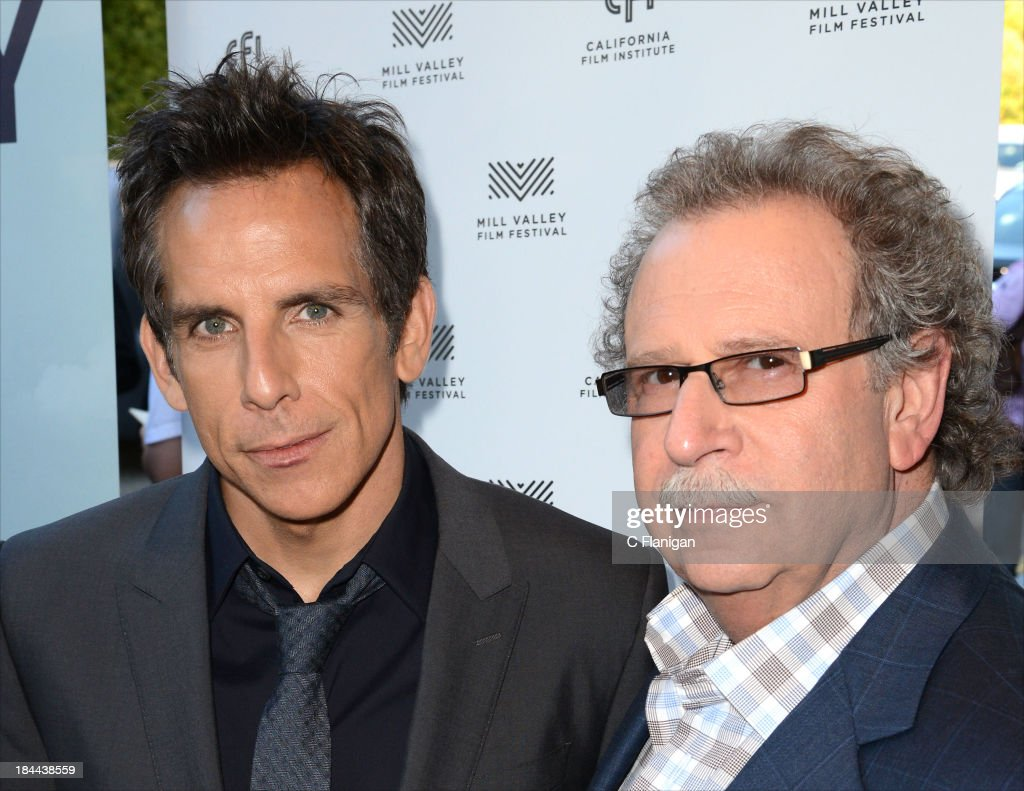 Actor <a gi-track='captionPersonalityLinkClicked' href=/galleries/search?phrase=Ben+Stiller&family=editorial&specificpeople=201806 ng-click='$event.stopPropagation()'>Ben Stiller</a> and Mark Fishkin arrive during the 36th Annual Mill Valley Film Festival at CineArts Sequoia Theatre on October 13, 2013 in Mill Valley, California.