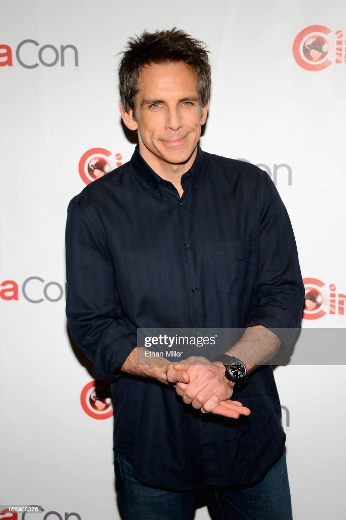 Actor Ben Stiller arrives at a Twentieth Century Fox presentation to promote the upcoming film 'The Secret Life of Walter Mitty' at Caesars Palace during CinemaCon, the official convention of the National Association of Theatre Owners, on April 18, 2013 in Las Vegas, Nevada.