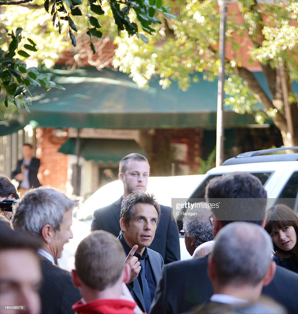 Actor <a gi-track='captionPersonalityLinkClicked' href=/galleries/search?phrase=Ben+Stiller&family=editorial&specificpeople=201806 ng-click='$event.stopPropagation()'>Ben Stiller</a> arrives during the 36th Annual Mill Valley Film Festival at CineArts Sequoia Theatre on October 13, 2013 in Mill Valley, California.