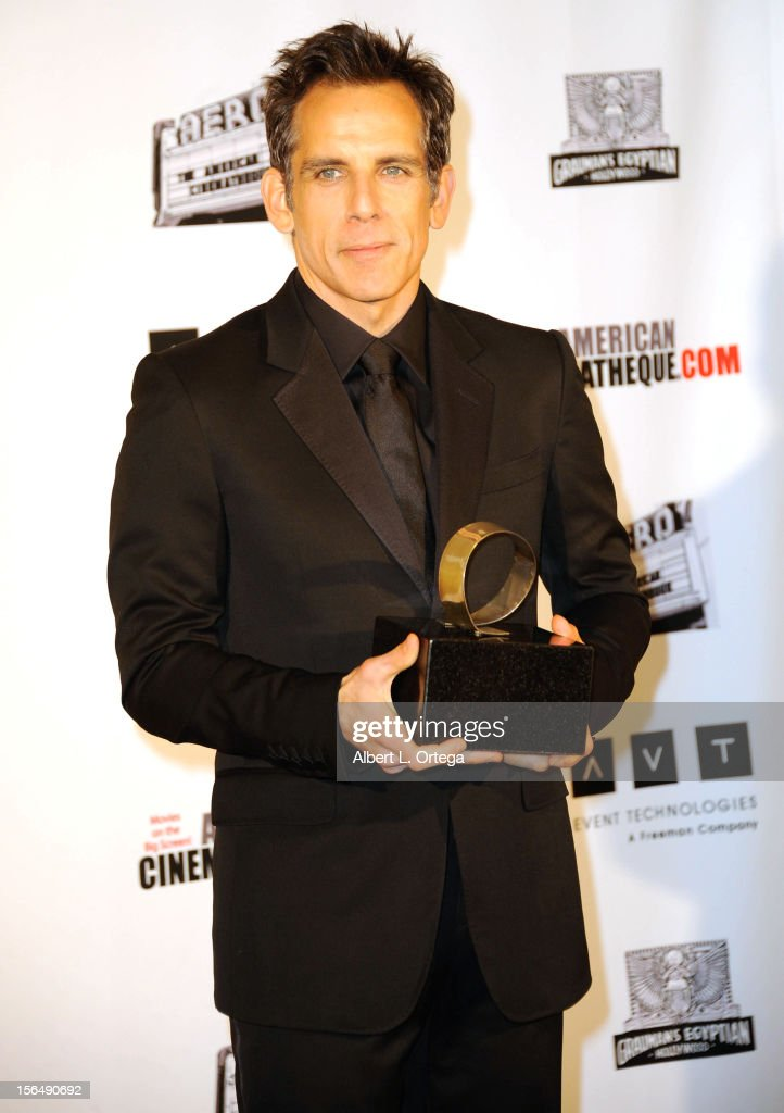 Actor <a gi-track='captionPersonalityLinkClicked' href=/galleries/search?phrase=Ben+Stiller&family=editorial&specificpeople=201806 ng-click='$event.stopPropagation()'>Ben Stiller</a> arrives for the 26th American Cinematheque Award Honoring <a gi-track='captionPersonalityLinkClicked' href=/galleries/search?phrase=Ben+Stiller&family=editorial&specificpeople=201806 ng-click='$event.stopPropagation()'>Ben Stiller</a> - Arrivals held at The Beverly Hilton Hotel on November 15, 2012 in Beverly Hills, California.