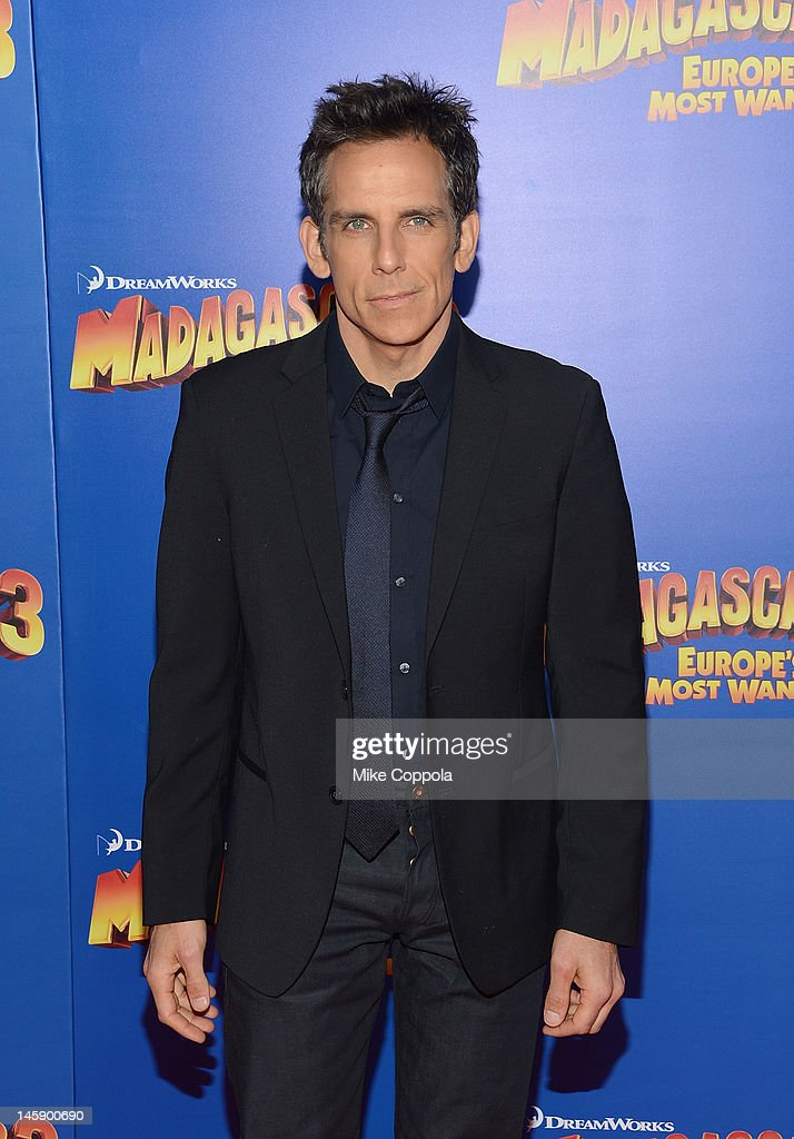 Actor <a gi-track='captionPersonalityLinkClicked' href=/galleries/search?phrase=Ben+Stiller&family=editorial&specificpeople=201806 ng-click='$event.stopPropagation()'>Ben Stiller</a> attend the 'Madagascar 3: Europe's Most Wanted' New York Premier at Ziegfeld Theatre on June 7, 2012 in New York City.