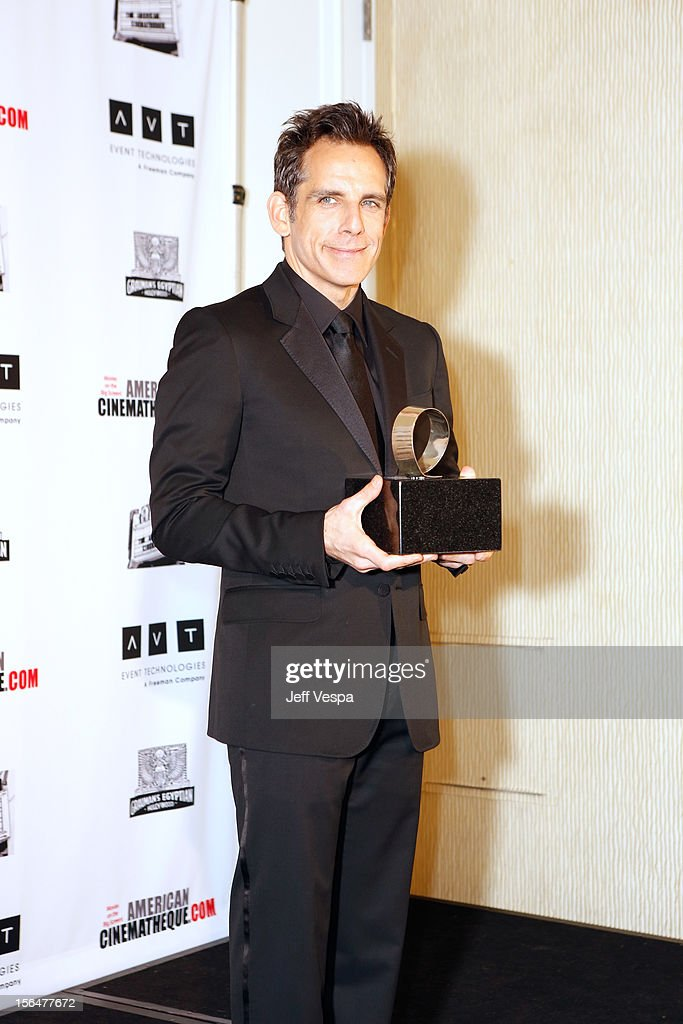 Actor <a gi-track='captionPersonalityLinkClicked' href=/galleries/search?phrase=Ben+Stiller&family=editorial&specificpeople=201806 ng-click='$event.stopPropagation()'>Ben Stiller</a> attends the 26th American Cinematheque Award Gala honoring <a gi-track='captionPersonalityLinkClicked' href=/galleries/search?phrase=Ben+Stiller&family=editorial&specificpeople=201806 ng-click='$event.stopPropagation()'>Ben Stiller</a> at The Beverly Hilton Hotel on November 15, 2012 in Beverly Hills, California.