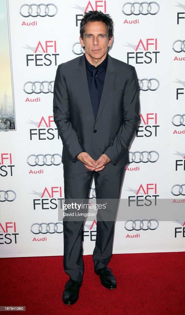 Actor <a gi-track='captionPersonalityLinkClicked' href=/galleries/search?phrase=Ben+Stiller&family=editorial&specificpeople=201806 ng-click='$event.stopPropagation()'>Ben Stiller</a> attends the AFI FEST 2013 presented by Audi premiere of 'The Secret Life of Walter Mitty' at the TCL Chinese Theatre on November 13, 2013 in Hollywood, California.
