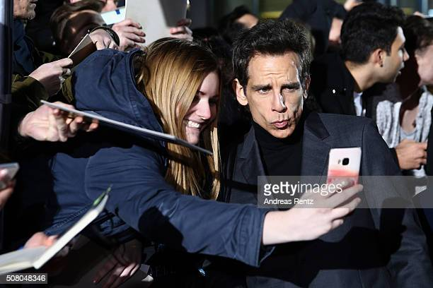 Actor Ben Stiller attends the Berlin fan screening of the Paramount Pictures film 'Zoolander No 2' at CineStar on February 2 2016 in Berlin Germany