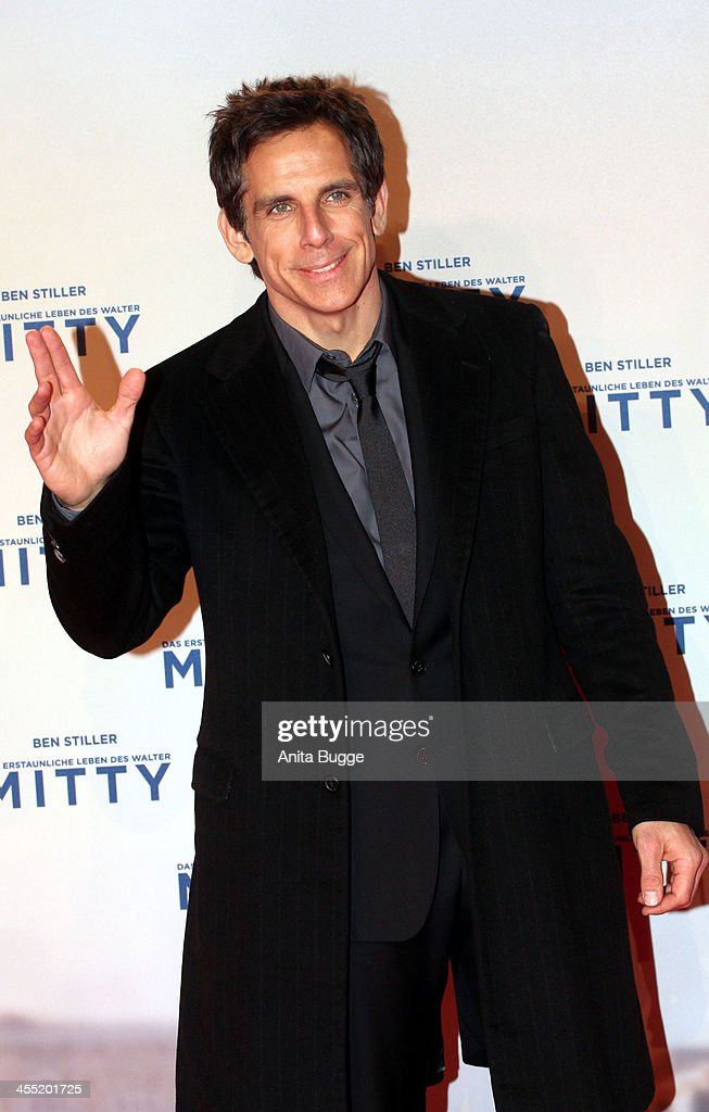 Actor <a gi-track='captionPersonalityLinkClicked' href=/galleries/search?phrase=Ben+Stiller&family=editorial&specificpeople=201806 ng-click='$event.stopPropagation()'>Ben Stiller</a> attends the German premiere of the film 'The Secret Life Of Walter Mitty' (Das erstaunliche Leben des Walter Mitty) at Zoo Palast on December 11, 2013 in Berlin, Germany.