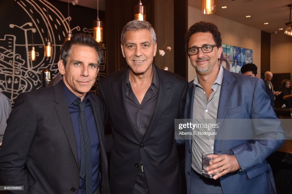 Actor Ben Stiller, Director George Clooney and Producer Grant Heslov attend Entertainment Weekly's Must List Party during the Toronto International Film Festival 2017 at the Thompson Hotel on September 9, 2017 in Toronto, Canada.