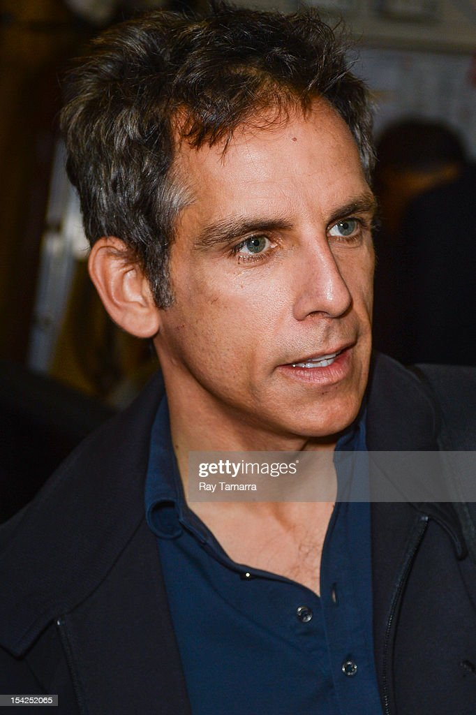 Actor <a gi-track='captionPersonalityLinkClicked' href=/galleries/search?phrase=Ben+Stiller&family=editorial&specificpeople=201806 ng-click='$event.stopPropagation()'>Ben Stiller</a> leaves the 'Live With Kelly And Michael' taping at the ABC Lincoln Center Studios on October 16, 2012 in New York City.
