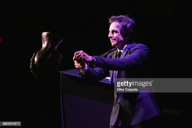 Actor Ben Stiller speaks onstage during the 44th Chaplin Award Gala at David H Koch Theater at Lincoln Center on May 8 2017 in New York City