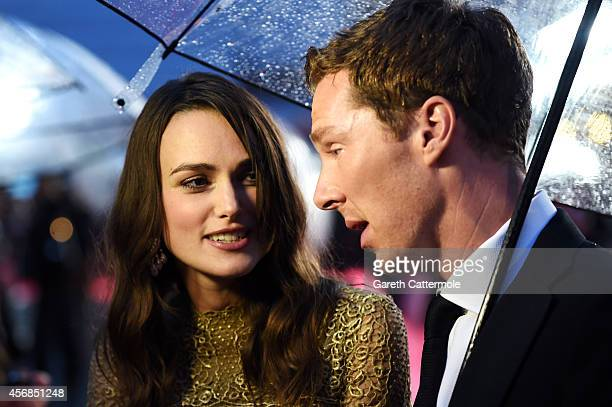 Actor Benedict Cumberbatch and actress Keira Knightley attend the opening night gala screening of 'The Imitation Game' during the 58th BFI London...