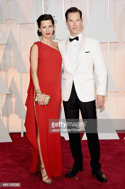 Actor Benedict Cumberbatch and Sophie Hunter attend the 87th Annual Academy Awards at Hollywood Highland Center on February 22 2015 in Hollywood...