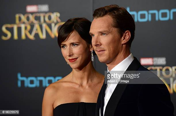 Actor Benedict Cumberbatch and wife Sophie Hunter arrive for the Premiere Of Disney And Marvel Studios' 'Doctor Strange' held at the El Capitan...