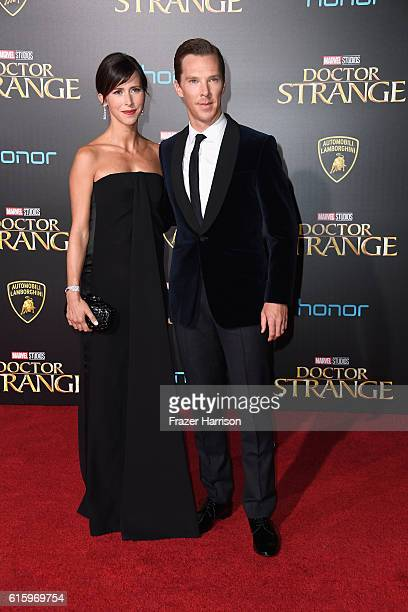 Actor Benedict Cumberbatch and wife Sophie Hunter Premiere Of Disney And Marvel Studios' 'Doctor Strange' on October 20 2016 in Hollywood California