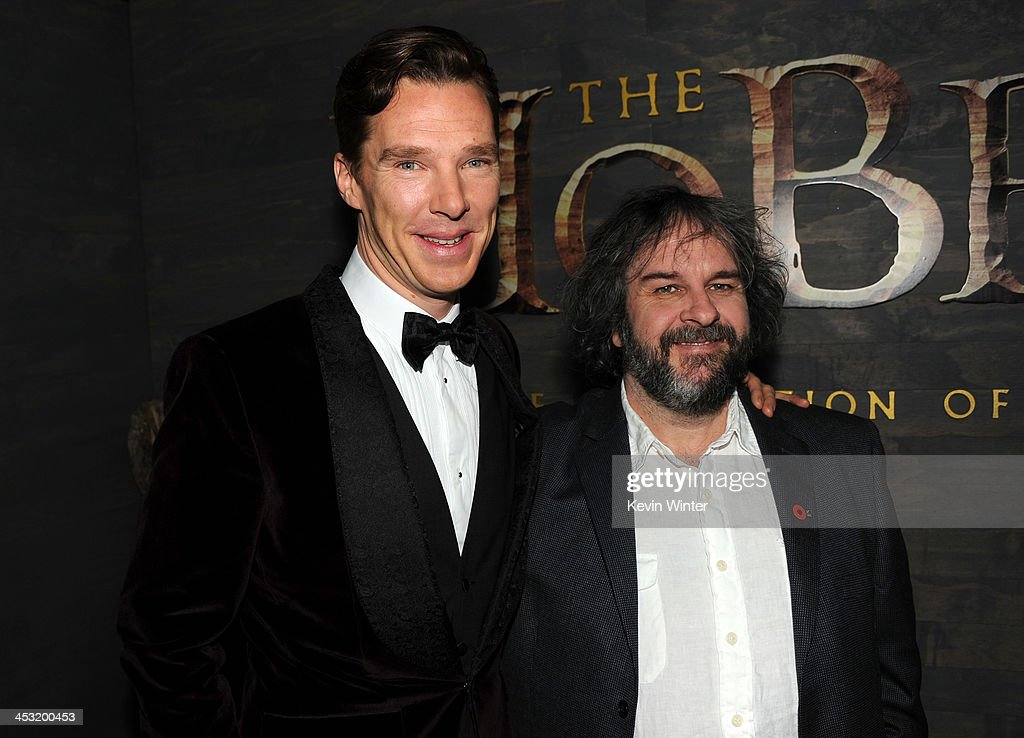 Actor <a gi-track='captionPersonalityLinkClicked' href=/galleries/search?phrase=Benedict+Cumberbatch&family=editorial&specificpeople=2487879 ng-click='$event.stopPropagation()'>Benedict Cumberbatch</a> (L) and writer/producer/director <a gi-track='captionPersonalityLinkClicked' href=/galleries/search?phrase=Peter+Jackson+-+Filmmaker&family=editorial&specificpeople=203018 ng-click='$event.stopPropagation()'>Peter Jackson</a> attend the premiere of Warner Bros' 'The Hobbit: The Desolation of Smaug' at TCL Chinese Theatre on December 2, 2013 in Hollywood, California.