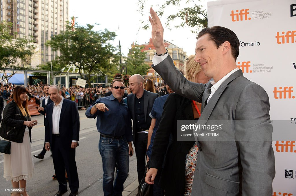 Actor <a gi-track='captionPersonalityLinkClicked' href=/galleries/search?phrase=Benedict+Cumberbatch&family=editorial&specificpeople=2487879 ng-click='$event.stopPropagation()'>Benedict Cumberbatch</a> arrives at the '12 Years A Slave' premiere during the 2013 Toronto International Film Festival at the Princess of Wales Theatre on September 6, 2013 in Toronto, Canada.