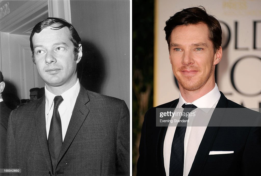 In this composite image a comparison has been made between Brian Epstein (L) and Benedict Cumberbatch. Actor Benedict Cumberbatch is in talks to reportedly play Beatles music producer Brian Epstein in a film biopic directed by Paul McGuigan and produced in part by Tom Hanks. BEVERLY HILLS, CA - JANUARY 15: Actor Benedict Cumberbatch arrives at the 69th Annual Golden Globe Awards held at the Beverly Hilton Hotel on January 15, 2012 in Beverly Hills, California.