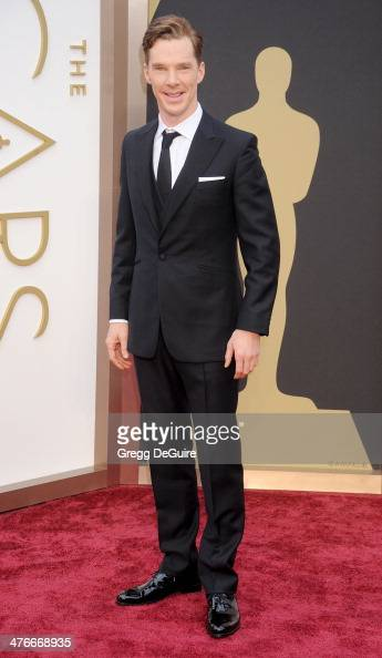 Actor Benedict Cumberbatch arrives at the 86th Annual Academy Awards at Hollywood Highland Center on March 2 2014 in Hollywood California