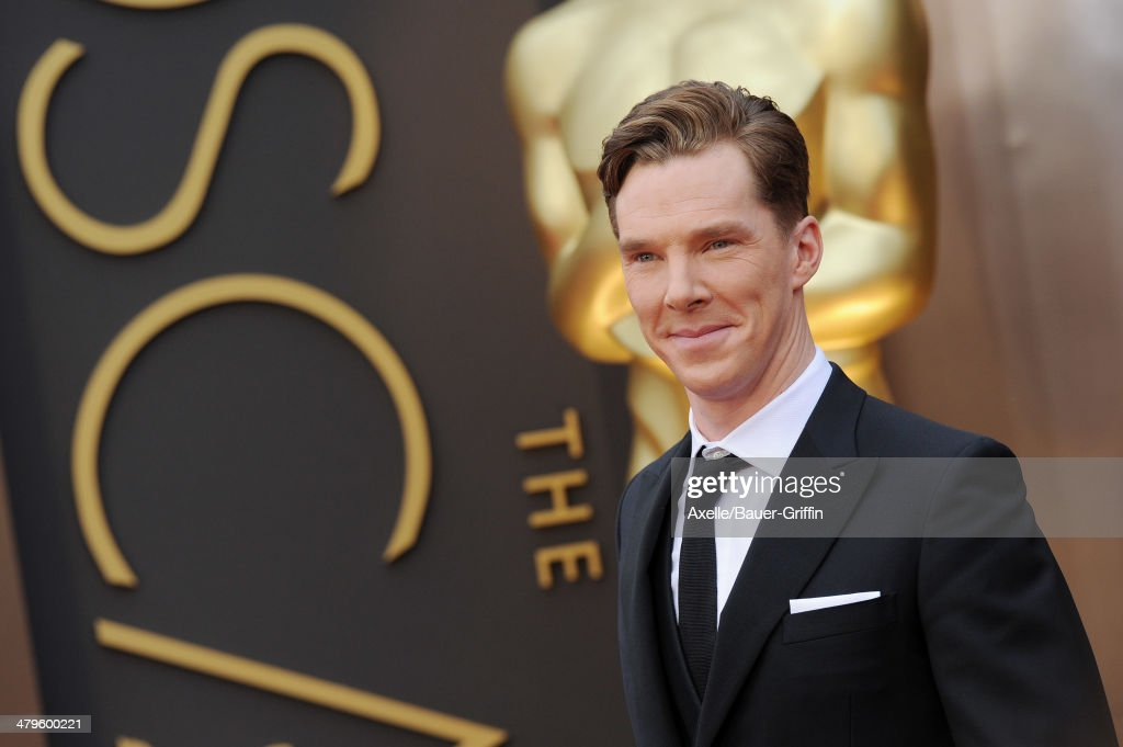 Actor <a gi-track='captionPersonalityLinkClicked' href=/galleries/search?phrase=Benedict+Cumberbatch&family=editorial&specificpeople=2487879 ng-click='$event.stopPropagation()'>Benedict Cumberbatch</a> arrives at the 86th Annual Academy Awards at Hollywood & Highland Center on March 2, 2014 in Hollywood, California.
