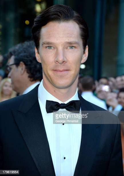 Actor Benedict Cumberbatch arrives at 'The Fifth Estate' premiere during the 2013 Toronto International Film Festival on September 5 2013 in Toronto...
