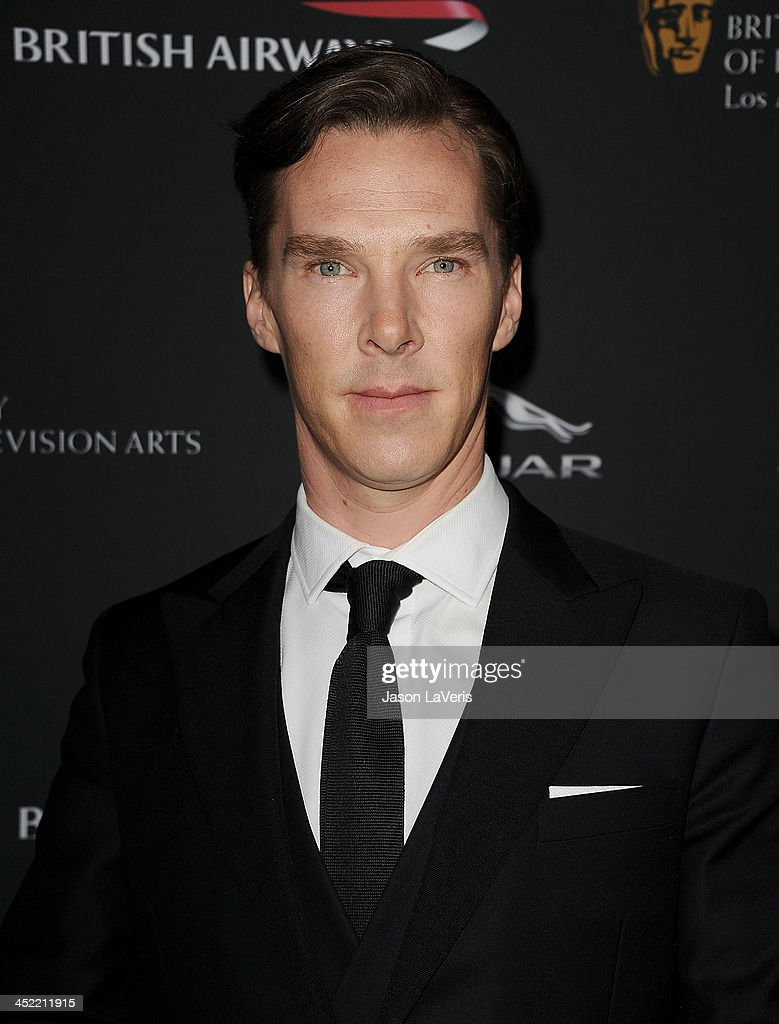Actor <a gi-track='captionPersonalityLinkClicked' href=/galleries/search?phrase=Benedict+Cumberbatch&family=editorial&specificpeople=2487879 ng-click='$event.stopPropagation()'>Benedict Cumberbatch</a> attends the BAFTA Los Angeles Britannia Awards at The Beverly Hilton Hotel on November 9, 2013 in Beverly Hills, California.