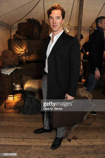 Actor Benedict Cumberbatch attends the 'BALLY Celebrates 60 Years of Conquering Everest' at Bedford Square Gardens on January 7 2013 in London England