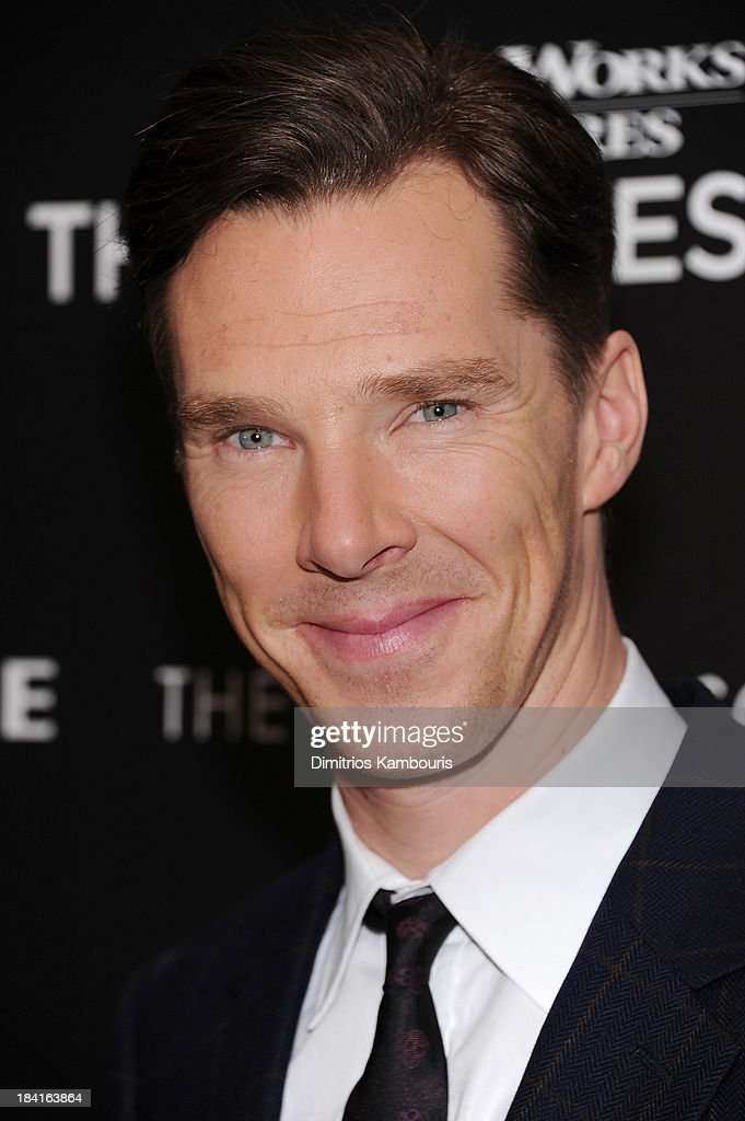 Actor <a gi-track='captionPersonalityLinkClicked' href=/galleries/search?phrase=Benedict+Cumberbatch&family=editorial&specificpeople=2487879 ng-click='$event.stopPropagation()'>Benedict Cumberbatch</a> attends The Cinema Society with Vanity Fair & Richard Mille screening of DreamWorks Pictures' 'The Fifth Estate' at the Crosby Street Hotel on October 11, 2013 in New York City.
