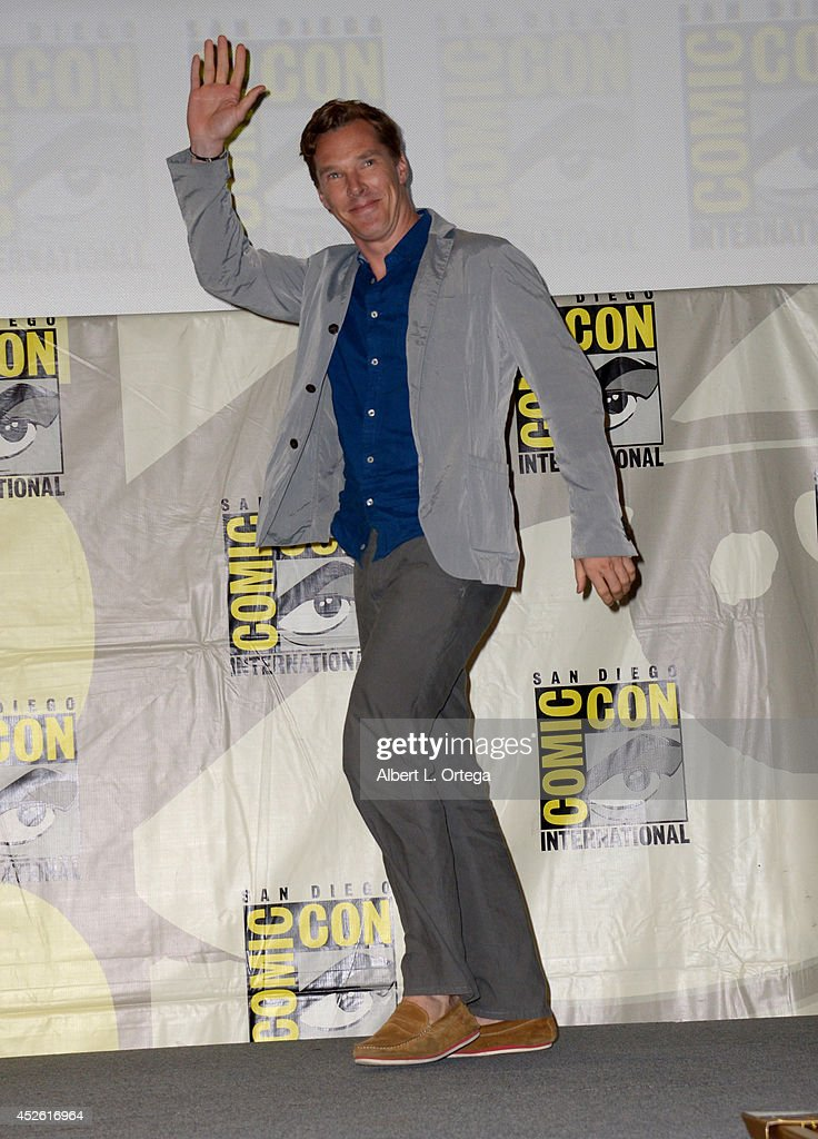 Actor <a gi-track='captionPersonalityLinkClicked' href=/galleries/search?phrase=Benedict+Cumberbatch&family=editorial&specificpeople=2487879 ng-click='$event.stopPropagation()'>Benedict Cumberbatch</a> attends the DreamWorks Animation presentation during Comic-Con International 2014 at the San Diego Convention Center on July 24, 2014 in San Diego, California.