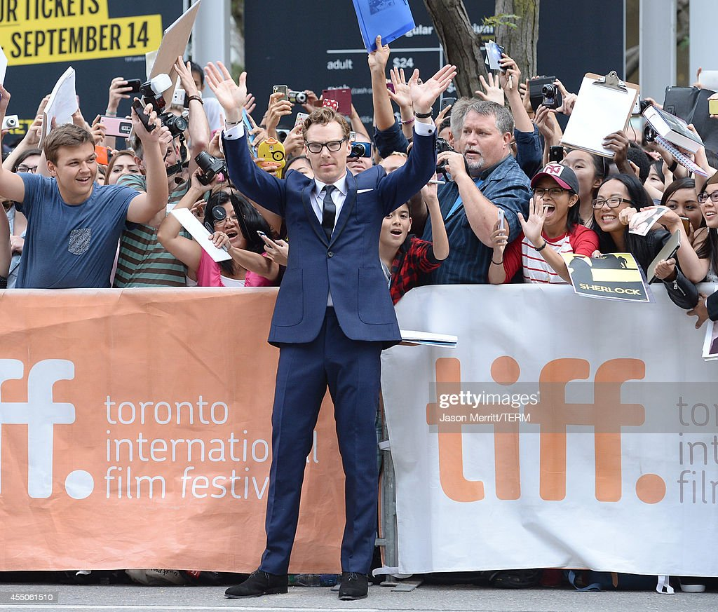 Actor Benedict Cumberbatch attends 'The Imitation Game' Premiere during the 2014 Toronto International Film Festival at Princess of Wales Theatre on...