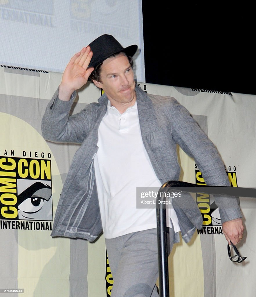 Actor Benedict Cumberbatch attends the 'Sherlock' panel during ComicCon International 2016 at San Diego Convention Center on July 24 2016 in San...