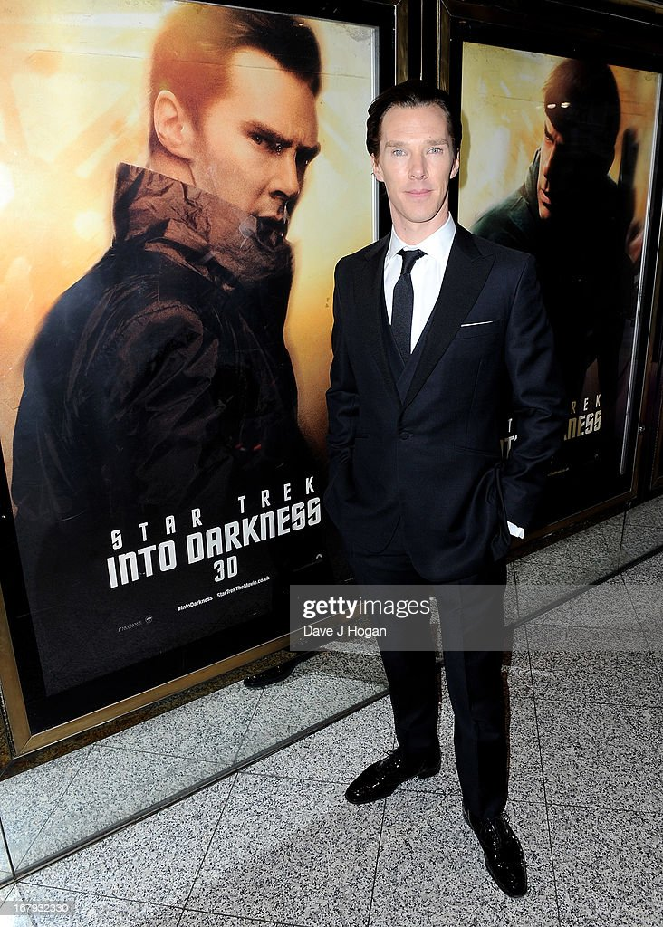 Actor <a gi-track='captionPersonalityLinkClicked' href=/galleries/search?phrase=Benedict+Cumberbatch&family=editorial&specificpeople=2487879 ng-click='$event.stopPropagation()'>Benedict Cumberbatch</a> attends the 'Star Trek Into Darkness' UK Premiere at the Empire Leicester Square on May 2, 2013 in London, England.
