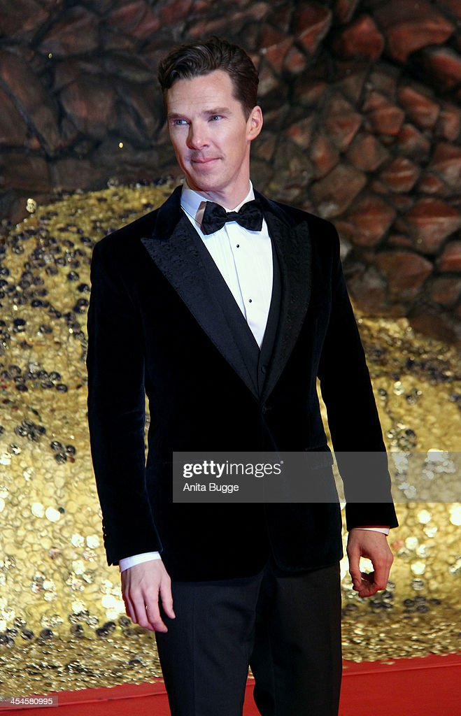 Actor Benedict Cumberbatch attends the 'The Hobbit: The Desolation of Smaug' European Premiere at Cinestar on December 9, 2013 in Berlin, Germany.
