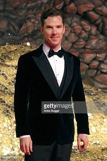 Actor Benedict Cumberbatch attends the 'The Hobbit The Desolation of Smaug' European Premiere at Cinestar on December 9 2013 in Berlin Germany