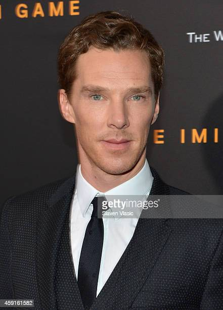 Actor Benedict Cumberbatch attends the 'The Imitation Game' New York Premiere at Ziegfeld Theater hosted by Weinstein Company on on November 17 2014...