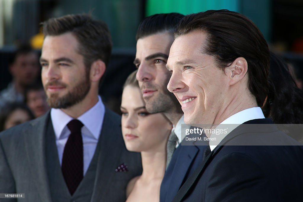 Actor <a gi-track='captionPersonalityLinkClicked' href=/galleries/search?phrase=Benedict+Cumberbatch&family=editorial&specificpeople=2487879 ng-click='$event.stopPropagation()'>Benedict Cumberbatch</a> attends the UK Premiere of 'Star Trek Into Darkness' at The Empire Cinema on May 2, 2013 in London, England.