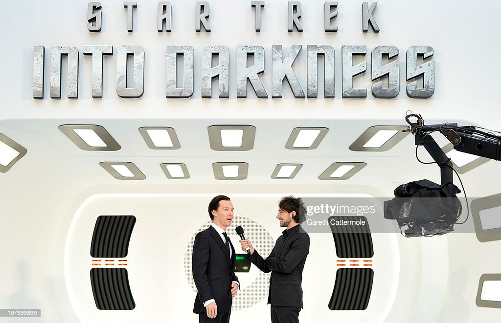 Actor Benedict Cumberbatch attends the UK Premiere of 'Star Trek Into Darkness' at The Empire Cinema on May 2, 2013 in London, England.