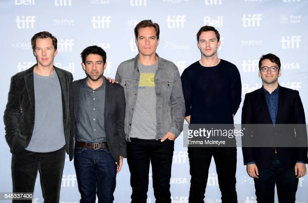 Actor Benedict Cumberbatch director Alfonso GomezRejon Michael Shannon Nicholas Hoult and executive producer Michael Mitnick attend 'The Current War'...
